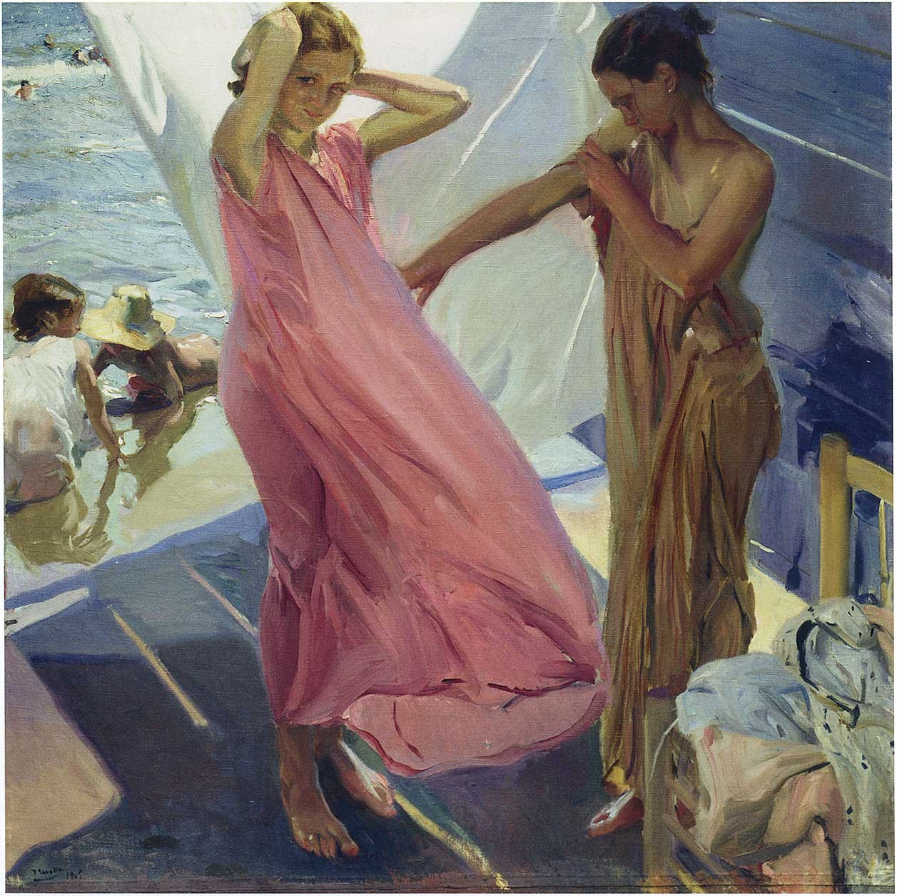 After the bath, Valencia, 1916, Joaquin Sorolla y Bastida